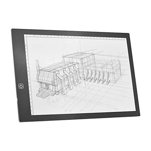 Mesa De Luz Dibujo A4 Led Light Box Tracer Tablero De Dibujo Copiar Tablero Pad 5 Mm Brillo Regulable Ultrafino Con Cable De Alimentación Usb Para Artistas