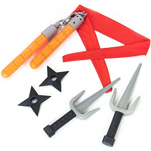 Ninja Master Accessory Kit for Kids - Play Pack for Children - for Halloween, Birthdays, Dress Up, Parties, Pretend - 6 Pieces