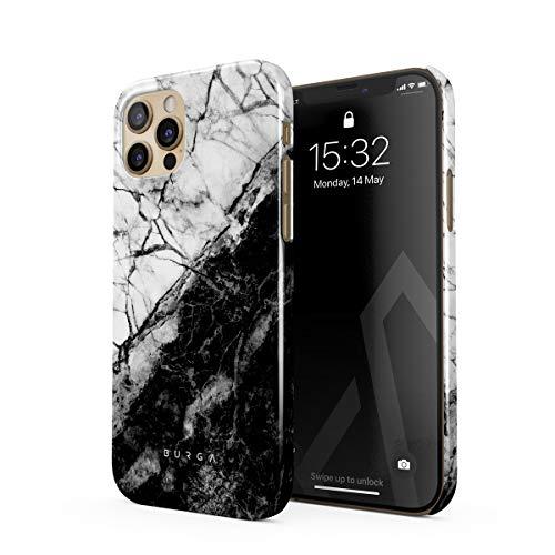 BURGA - Carcasa para iPhone 12 Pro, diseño de contradicción fatal, color blanco y negro, color blanco y negro