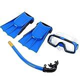 Kids Snorkel Set Diving Set Swim Goggle Respirar Tube con aletas...