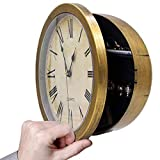 10 Inch Plastic Wall Clock with Hidden Compartment, Wall Clock Diversion Safe with Secret Interior Storage for Jewelry, Cash, Valuables
