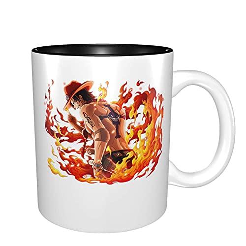 One Piece Anime Keramik Tasse Kaffeebecher Einzigartige Lustige Kaffeetasse Neuheit Reisebecher für Männer & Frauen Teetassen & Kaffeetassen