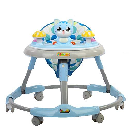 TINE Andador para Bebé Andador con Música Plegable Regulable en Altura Andador de Actividades Antivuelco para Bebés Mayores de 6 Meses Carga Máxima 15 kg