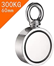 HITBOX Double Side Magnet Fishing Combined 300Kg Pulling Force 60Mm Diameter Super Strong Round Neodymium Fishing Magnet Wit