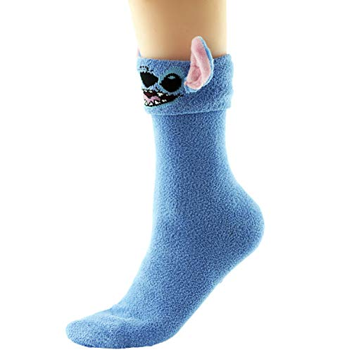 Lilo And Stitch Ladies Girls Cosy Socks with Ears