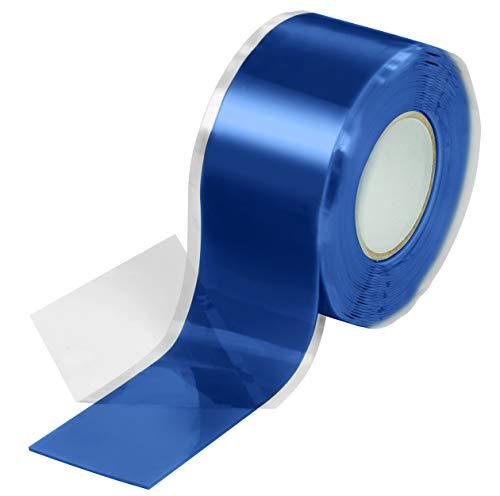 Poppstar 1x 3m selbstverschweißendes Silikonband, Silikon Tape Reparaturband, Isolierband und Dichtungsband (Wasser, Luft), 25mm breit, blau