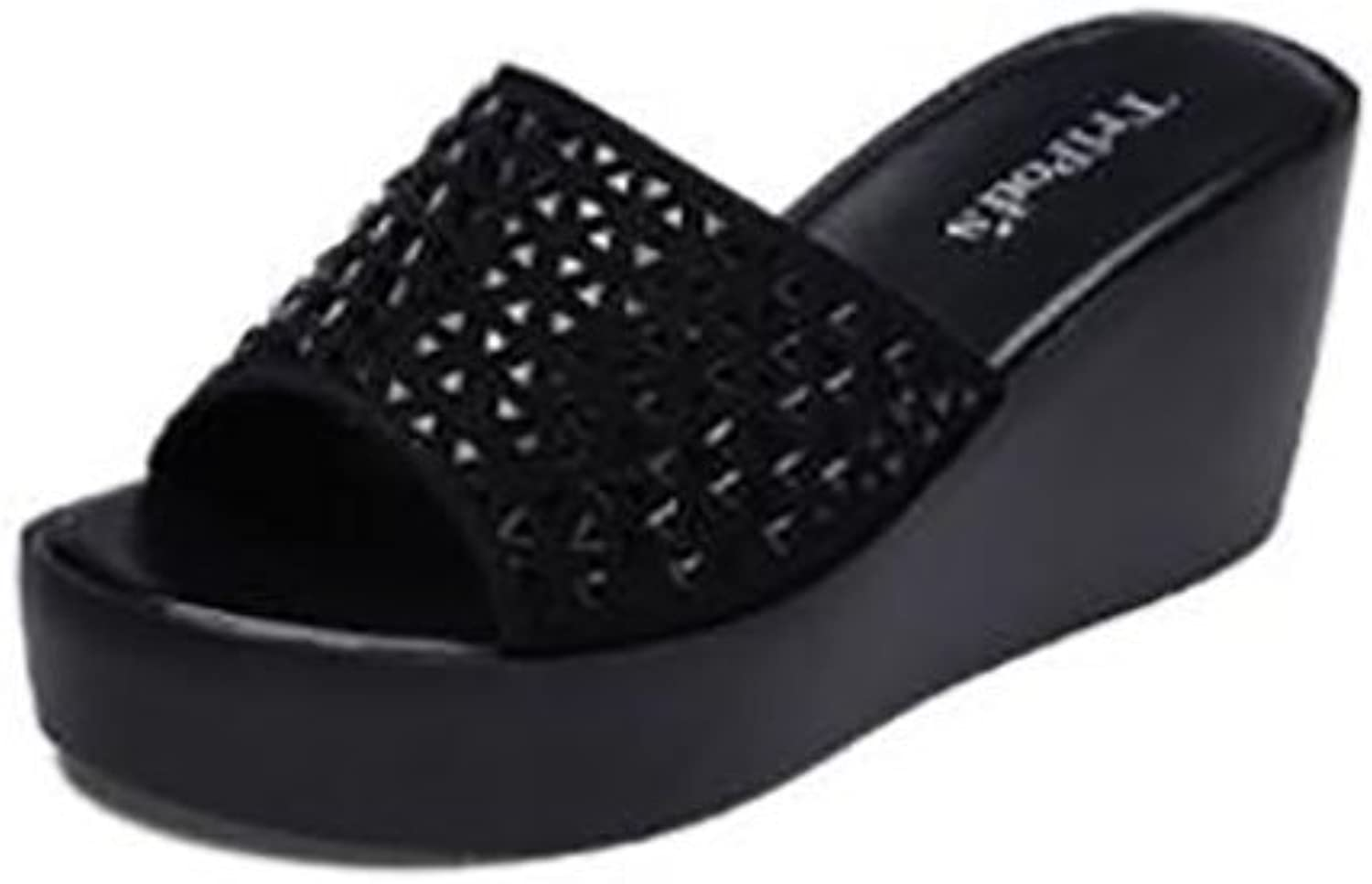 Summer Female Sandals and Slippers Wedge shoes Flat Sandals,Fashion Sandals (color   A, Size   33)