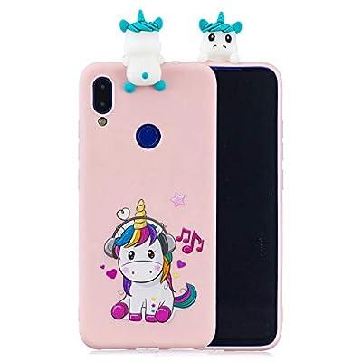 ChoosEU Compatible con Funda Xiaomi Redmi Note 7 Silicona 3D Dibujos Unicornio Carcasas TPU Case Antigolpes Bumper Cover Protección Caso Flexible Gel - Unicornio
