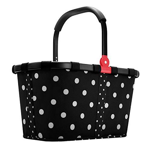 Reisenthel carrybag Einkaufskorb 22 Liter Sonderedition Black Frame schwarzer Rahmen - Mixed dots Black