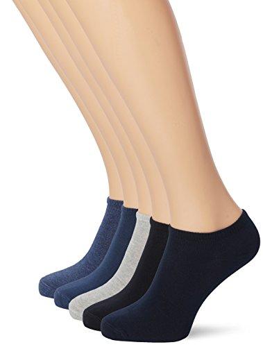 s.Oliver Socks Damen S24008 Füßlinge, Blau (Denim Mel. 0033), 35/38 (10er Pack)