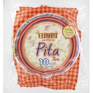 Elviart Pan de Pita plano (10 piezas)