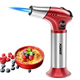 Kollea Kitchen Torch, Professional Culinary Torch, Safety Latch & Adjustable Flame Lighter for Caramelization Cream, Burnt, DIY Barbecue and Cooking (Gas Not Included)