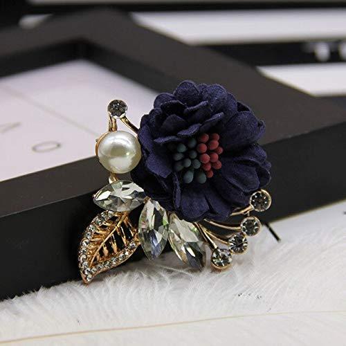 XZFCBH hoogwaardige mode nieuwe doek kunst bloem broche corsage parel reversspeldjes en broches sjaal gesp geschenken voor vrouwen accessoires