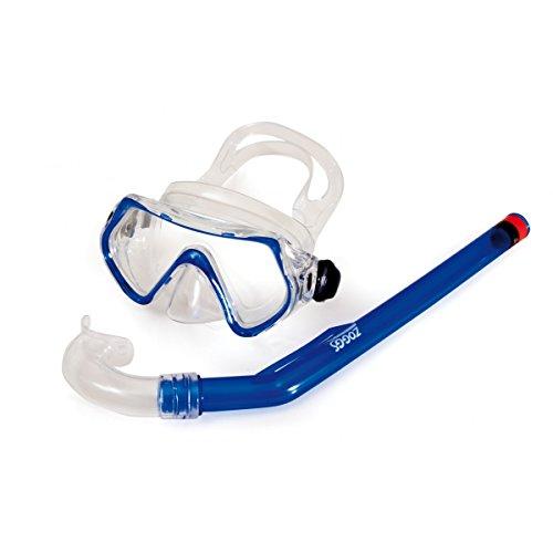 Zoggs Reef Explorer Junior Rentner Schnorchel und Mask, Badehose Schwimmbad Tauchen - 6-14 Jahre, blue