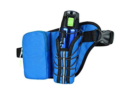 LYFLYF Homme Extérieur Sport Multifonctionnel Messenger Grande Capacité Imperméable à l'eau Toile Course à Pied Waist Packs Sac,Blue