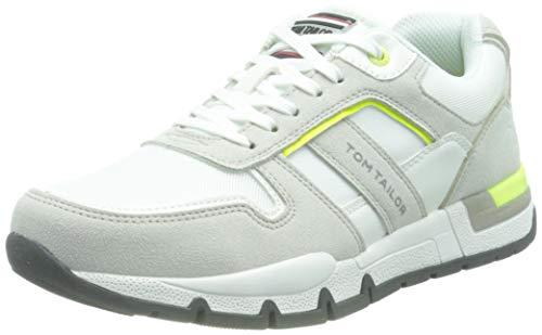 TOM TAILOR Męskie sneakersy 1183402, biały - 41 EU