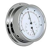 Barigo 984rfpo Regatta - Termometro igrometro in acciaio INOX, 120 mm