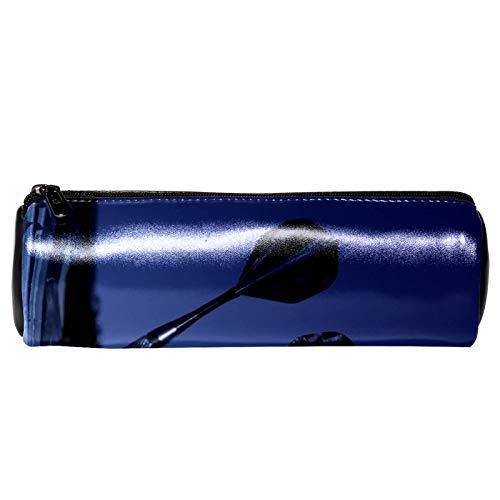 Stifte-Etui, farbige Kristall-Dartpfeile, PU-Leder, Schreibwaren-Tasche, Kosmetiktasche, Federmäppchen, großes Fassungsvermögen, Stifttasche, Make-up-Tasche