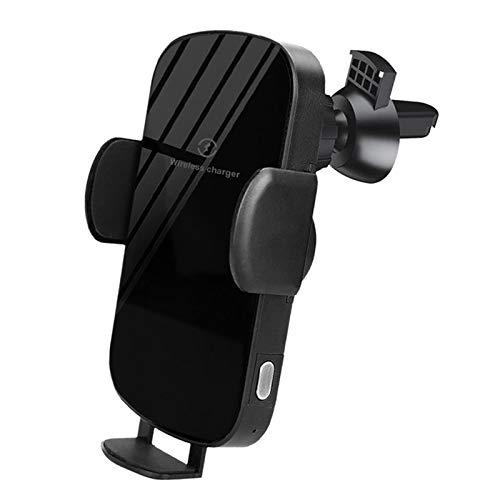 Shiwaki Cargador de Coche inalámbrico de sujeción automática 15W Cargador de Coche de Carga rápida Montaje Compatible con iPhone 11/11pro/11pro MAX/XS - Regular