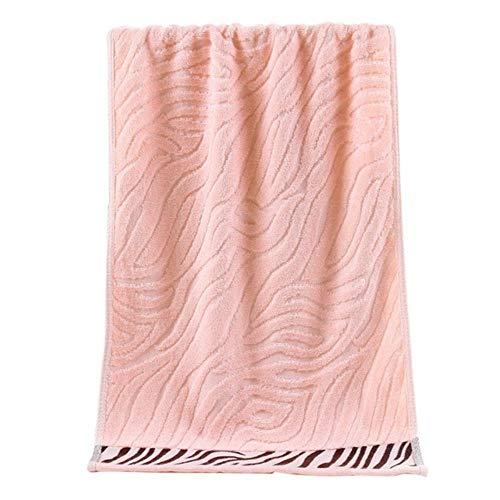XCVB Serviette en Fibre De Bambou Serviette De Visage Tissu Serviette De Cheveux Rectangle Doux Imprimé Salle De Bains Serviettes De Main, Rose pâle, 34x75 cm