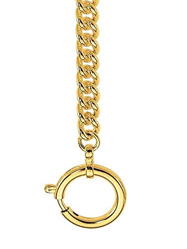 Dugena 0021935 - Reloj de bolsillo con cadena chapada en oro, unisex
