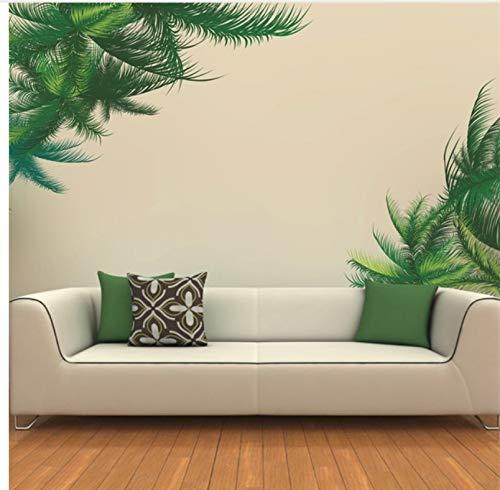 Meaosy Grren palmboom plant laat muurstickers voor bank achtergrond muur/dressoir/deur achtergrond Decor DIY muursticker decoraties