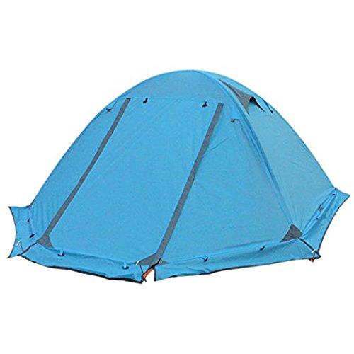 Flytop Lz01–005 3–4 saisons 2 personnes Double couche Tente de randonnée en aluminium Rod coupe-vent imperméable à l'eau pour le camping randonnée Voyage d'escalade – Facile à installer