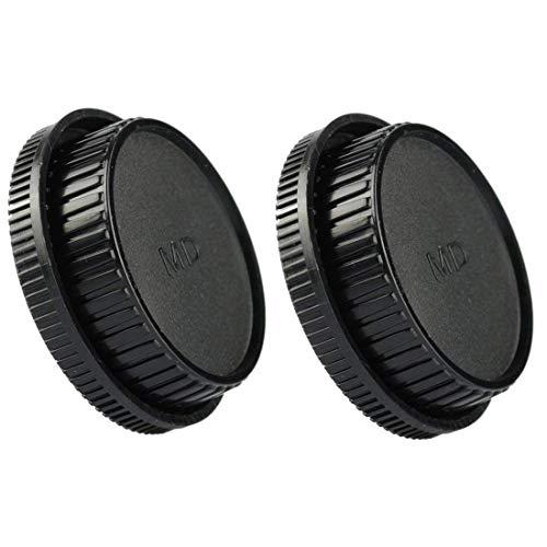 HomyWord 2 piezas con tapa delantera y tapa trasera lentes para Minolta MD MC Lente y cámaras de montaje para Minolta X-700 X570 X-370 XD XD-7 XD-11 XG