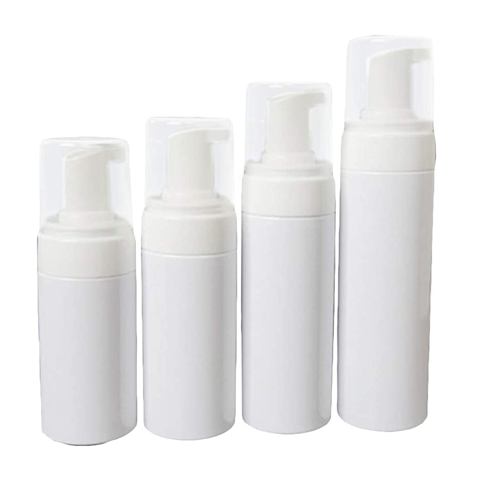 欠伸やむを得ない小数泡ディスペンサーのびん再使用可能な空のびんの容器4pcs