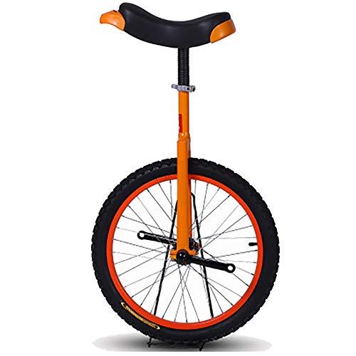 JMSL Einrad 16-Zoll-Einrad-Einrad fur Kinder Anfanger Kinder Mit Einer Korpergrose von 120 Bis 140cm, 6/7/8/9 Jahre Altes Madchen Madchen Balance Cycling, Bequemer Sattelsitz (Color : Orange)