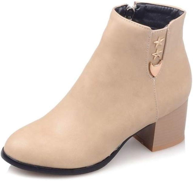 BeautyOriginal Women's Block Ankle Bootie Low Heel Boot