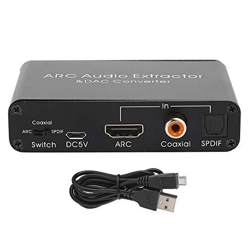 SALUTUY Divisor de Audio, convertidor de decodificación de Audio Compatible con transmisión de Canal de Sonido 5.1 con Amplificador de Audio de Alto Rendimiento para Audio