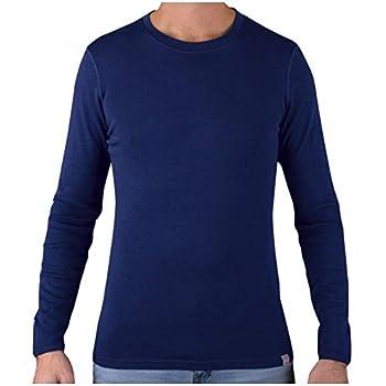 MERIWOOL Mens Base Layer - 100% Merino Wool Midweight Long Sleeve Thermal Shirt Navy