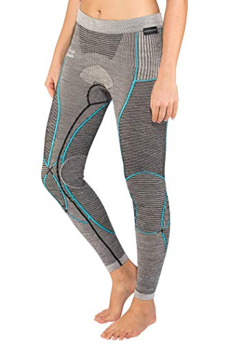 X-BIONIC Legging Apani en Laine mérinos pour Femme par Fastflow Lady UW XS Noir/Gris/Turquoise