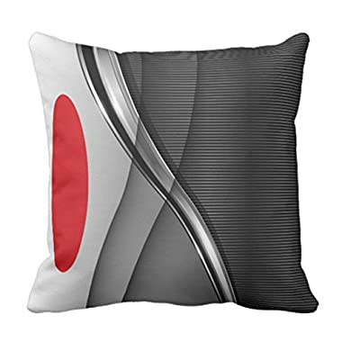 Emvency Throw Pillow Cover Red in Modern Abstract Black Decorative Pillow Case Home Decor Square 16 x 16 Inch Pillowcase