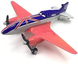 Pixar Moive Planes Dusty Skipper Delta Dipper Windlifter Airplane Toys Metal 1:55 Loose Flighter Airplanes Boy Toys Planes Trains and Automobiles Planes fire and Rescue Planes Toys (11# Bulldog)