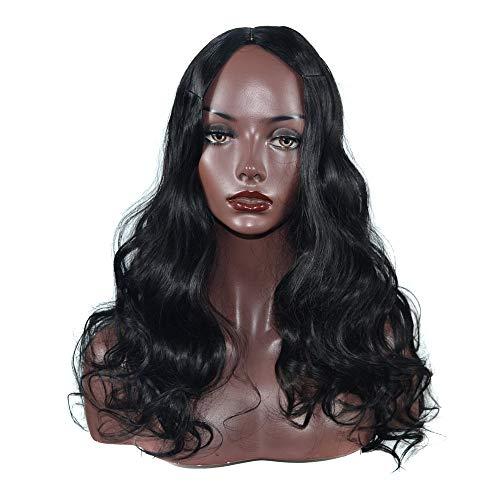 Section longue tempérament de la mode boucles Mid-Point coiffure Big Wave Roll perruques Party Halloween