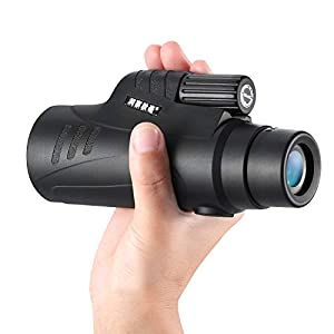 POMER 10X40 Monocular Telescope with Quick Cell Phone Adapter, Waterproof Compact Monocular with BAK4 Multi-Coated Zoom Lens for Bird Watching Hunting Hiking Travelling