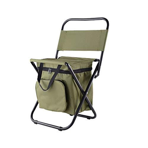 Escalada al aire libre acampa de la pesca portátil plegable La bolsa de heces con aislamiento bolsa multifuncional plegable al aire libre del taburete portátil hielo Pesca Playa heces silla ligera hec