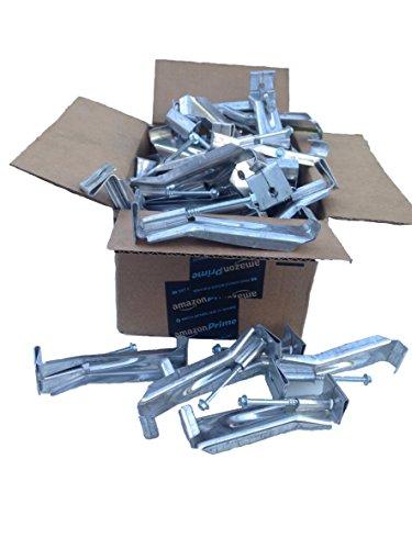 5 inch Quick Screw hidden gutter hanger with clip 25 pack