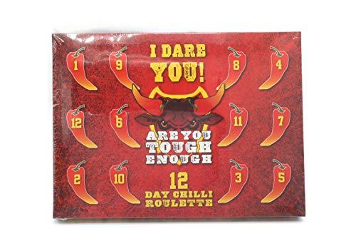 Calendario de Adviento de 12 días de ruleta con chile caliente y chocolate