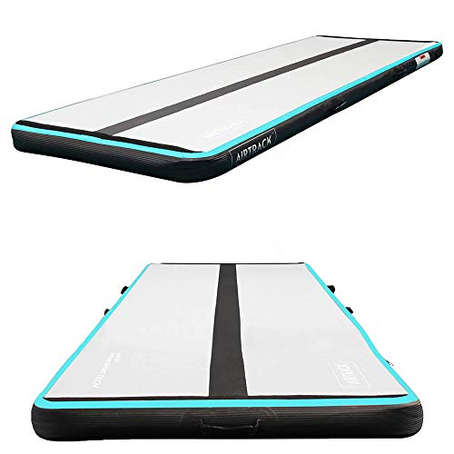AirTrack 16' Pro Inflatable Gymnastics Mat with Air Pump | Extra Large Tumbling Mat | Compact Home Gym Exercise Equipment | 5ft x 16ft x 8 Inch Thick Tumbling Air Mat