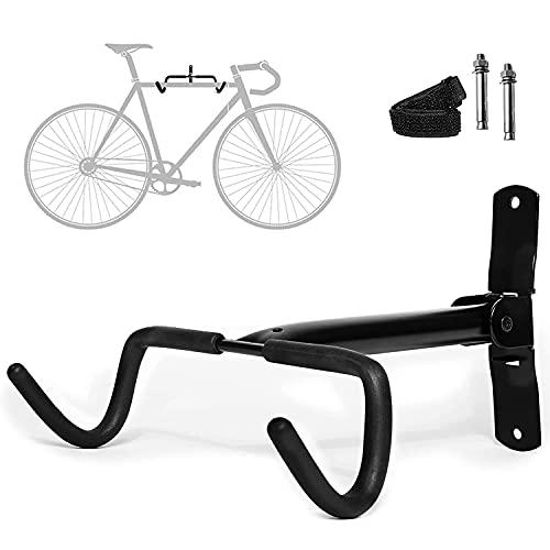 Charles Daily – Soporte Bicicletas Pared – Soporte Bicicleta Plegable – Soporte Pared Bicicletas para Garajes y Hogares – Protección de Cuadro Extrafuerte – Negro