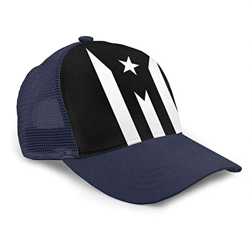 Mens and Womens 100/% Polyester Puerto Rico Mesh Hat Quick Dry Trucker Mesh Cap for Unisex