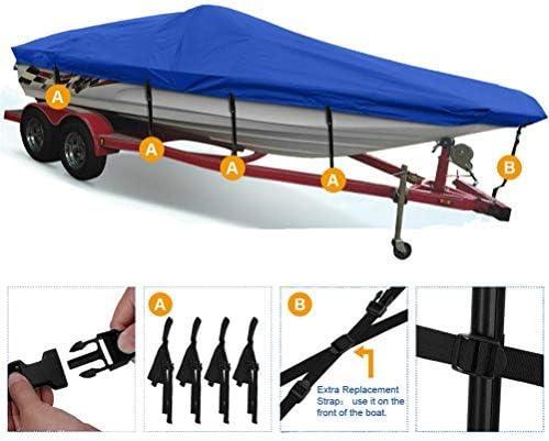 "wholesale labworkauto Trailerable Pontoon Boat Cover Waterproof sale 17-19 Ft popular Heavy Duty Fabric Beam 95"" sale"