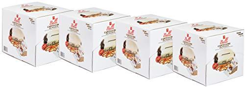 Cantuccini alle Mandorle 4er Pack, jeweils 60 x 10g, insgesamt 2400g, Mandelgebäck aus Italien, 60 einzeln verpackte Kekse in einer praktischen Box