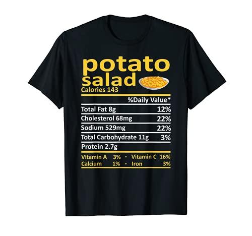 Patato Salad Nutricin Informacin Alimentaria Disfraz de Accin de Gracias Navidad Camiseta