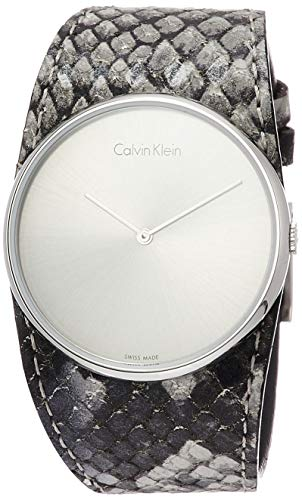 Calvin Klein Reloj Analógico para Mujer de Cuarzo con Correa en Cuero K5V231Q4
