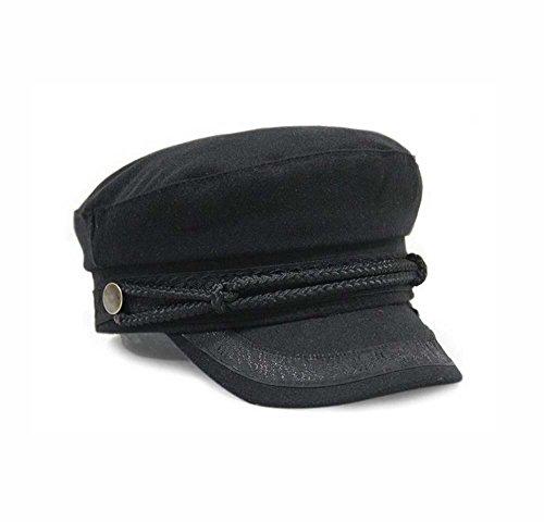 KGM Accessories Gorra de mujer pescador capitanes estilo moda negro pequeño/mediano 57 cm