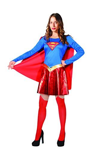 Ciao- Supergirl Costume Donna Originale DC Comics (Taglia S) Disfraces, Color Azul/Rojo, 11679